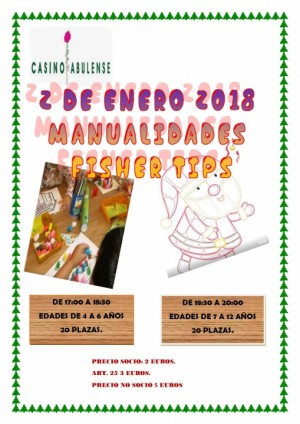 Taller de manualidades: Fisher tips